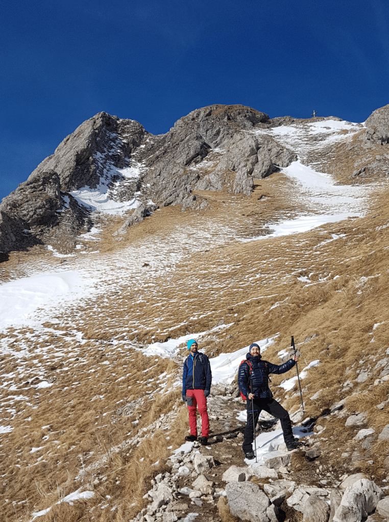 Einstieg des Hüttengrats zum Aggenstein