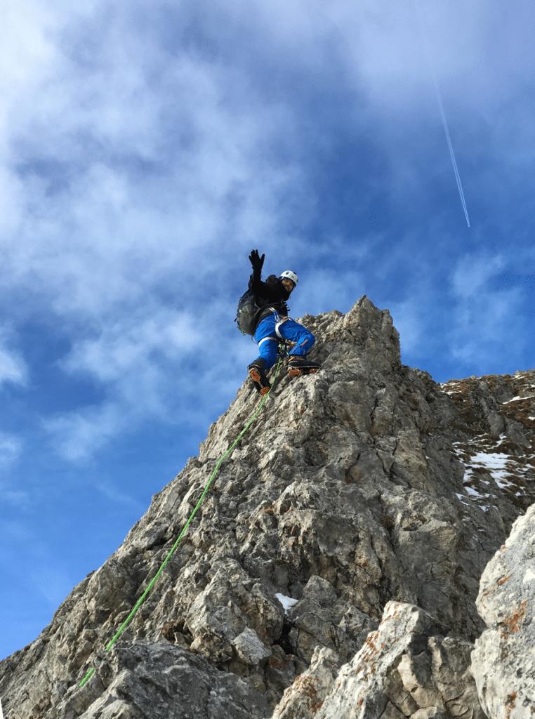 Klettertour im Hüttengrat des Aggensteins